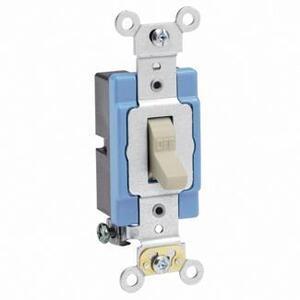 Leviton 1201-2I Single-Pole Toggle Switch, 15A, 120/277V, Ivory, Industrial Grade