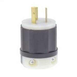 Leviton 4570-C Locking Plug, 15A, 250V, 2P3W