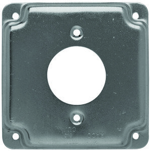 "Hubbell-Raco 812C 4"" Square Exposed Work Cover, (1) Single Receptacle Power Outlet"