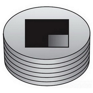 """OZ Gedney PLG150R Close-Up Plug, Recessed Head, 1-1/2"""", Explosionproof, Malleable"""