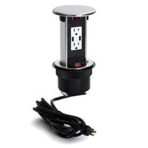 Lew PUR15-S Countertop Power Center, 15A Duplex Outlet with USB Ports, 9 ft. Power Cord