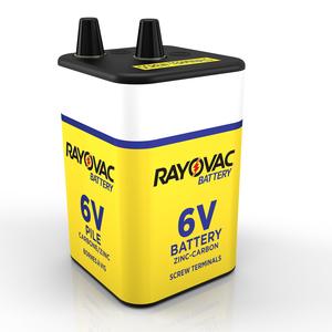 Rayovac 945R4 Lantern Battery, 6V, Zinc Carbon