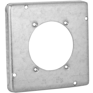"Mulberry Metal 11523 4-11/16"" Power Outlet Cover, Single Receptacle 2.480"" Diameter"