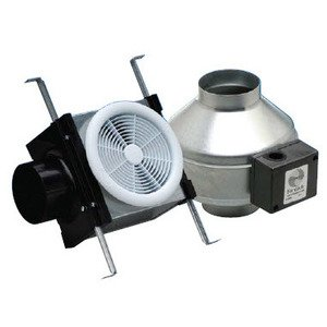 "Fantech PB110H In-Line Fan Kit, 4"" Duct, 110 CFM, Halogen Light"