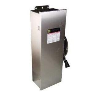Square D DTU224NRB Transfer Switch, Non-Fused, 200A, 240VAC, 2P, NEMA 3R