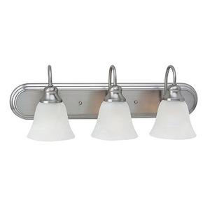 Sea Gull 44941-962 Bath Light, 3-Light, 100W, Brushed Nickel