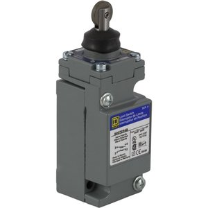 Square D 9007C54D Limit Switch, Top Roller, 1NO/NC, Contacts, 10A, 600VAC, Plug-In