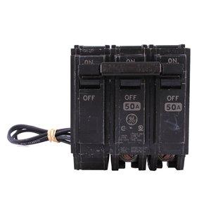 ABB THQL2150ST1 Breaker, 50A, 2P, 120/240V, 10 kAIC, Shunt Trip 120VAC