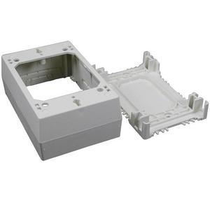 Wiremold 2348 Deep Device Box, 1-Gang, 2300 Series Raceway, Ivory