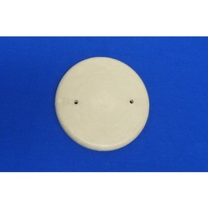 "Allied Moulded 9315 Round Box Cover, Blank, Diameter: 4-3/4"", Beige, Non-Metallic"
