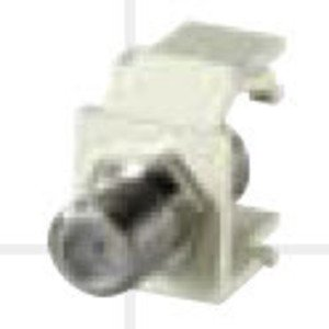 Bizline CMODFIVY F-Type Keytstone Connector Module, Light Ivory