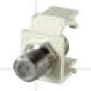 Bizline CMODFIVY F-Type Keytstone Connector Module, Light Ivory