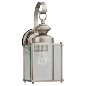 Sea Gull 8457-965 Lantern, Outdoor, 1 Light, 100W, Antique Brushed Nickel