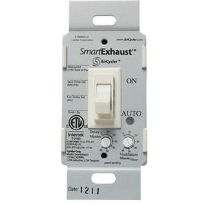 Panasonic FV-WCPT1-W Fan/Light Switch, Toggle Style, 120V, 15A, White
