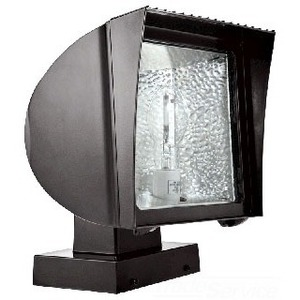 RAB FXF42XQT Flood Light, Compact Fluorescent, 1 Light, 42W, Bronze