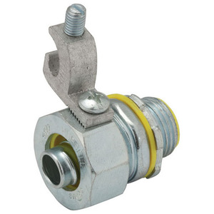 """Hubbell-Raco 3522-3 Liquidtight Grounding Connector, Size: 3"""", Cable Range: 14 - 4 AWG"""