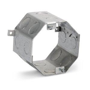 "Steel City 54561-1/2-3/4 4"" Octagon Concrete Box, 3-1/2"" Deep, Drawn, 1/2 - 3/4"" KOs, Steel"