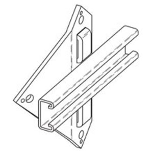 Eaton B-Line B810-12HDG UTILITY POLE BRACKET, 12-IN. WIDTH, HOT DIP GALVANIZED