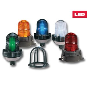 Federal Signal 191XL-120-240R Flashing LED Hazardous Location Warning Light, 120/240VAC, Red