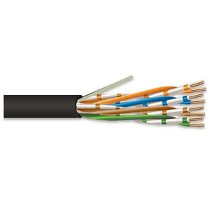 Genesis 5090-10-08 4 Pair 24 AWG CAT5e - Black