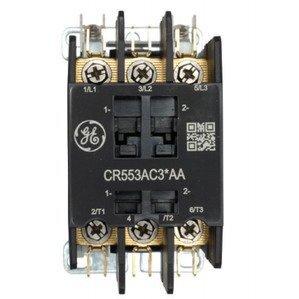 GE CR553AC2HAA Contactor, Definite Purpose, 2P, 30A, 24VAC Coil, Open
