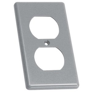 Carlon HB1DP Outlet Box Cover, Type Duplex, 1-Gang, Gray, Non-Metallic