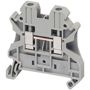 Square D NSYTRV42 Terminal Block, 6.2mm, Feed Through, Gray, Screw Type