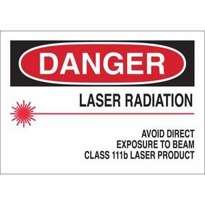 25258 RADIATION & LASER SIGN