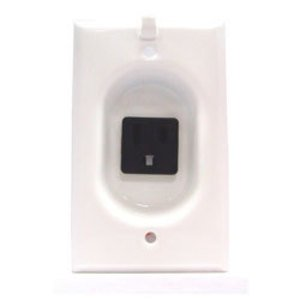 Mulberry Metal 40582 Clock Hanger Receptacle, Steel, White