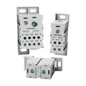 Mersen FSPDB3A Power Distribution Block, Finger Safe, 310A, 1 Line, 8 Load, Aluminum