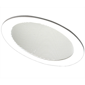 "Elco Lighting EL622KW Baffle Trim, Slope Ceiling, 6"", White, Phenolic"