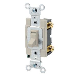 Leviton 54521-2I 1-Pole Switch, Framed Toggle, 20A, 120/277V, Ivory, Side Wired