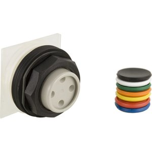 Square D 9001SKR3U Push Button, Multicolor, 30mm, No Guard, Operator Only, Momentary