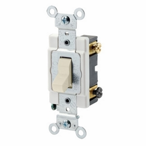 Leviton CSB2-15T 2-Pole Switch, 15 Amp, 120/27V, Light Almond Back/Side Wired, Commercial