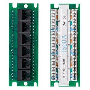 Leviton 476TM-EX5 Twist & Mount Expansion Board - (6) Cat 5e ports