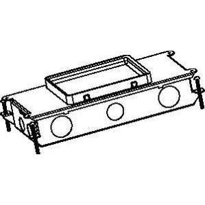 "Wiremold RFB2 Rectangular Floor Box, Adjustable, 2-Gang, Depth: 3-7/16"", Steel"
