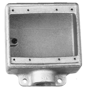 """Cooper Crouse-Hinds FD32 FD Device Box, 2-Gang, Dead-End, Type FD, 1"""", Malleable Iron"""
