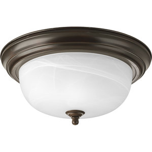 Progress Lighting P3925-20 Close to Ceiling Light, 2-Light, 75W, Antique Bronze