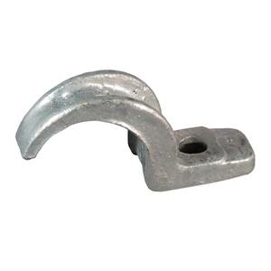 "Appleton CL-75MN Rigid Conduit Strap, 1-Hole, 3/4"", Malleable Iron"