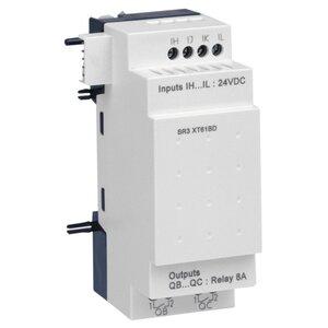 Square D SR3XT61BD Relay, Zelio Logic, 4 Discrete I/O, 6 I/O, 24VDC, 4mA