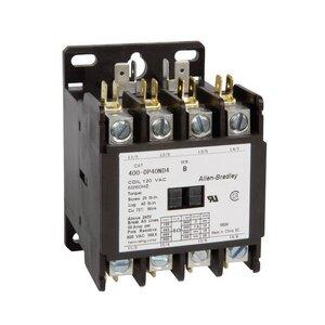 Allen-Bradley 400-DP30ND4 Contactor, Definite Purpose, 30A, 4P, 120VAC Coil, 600VAC Rated