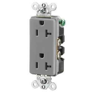 Hubbell-Wiring Kellems HBL2162GY STYLE DUP RCPT, 20A 125V, 5-20R, GY