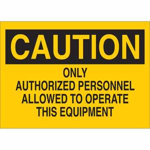22922 MACHINE & OPERATIONAL SIGN