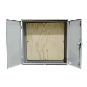 """Milbank 364812-CT3R-SP2 Enclosure, Hinge Cover, 2-Door, NEMA 3R, 36 x 48 x 12"""", Steel/Gray"""
