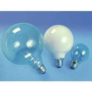 SYLVANIA 100G40/W/3/RP-120V Incandescent Bulb, G40, 100W, 120V, Soft White