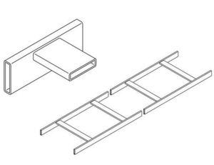 "Chatsworth 10250-112 Universal Cable Runway, 12""W x 1.5""Hx9.96""L, Gray"