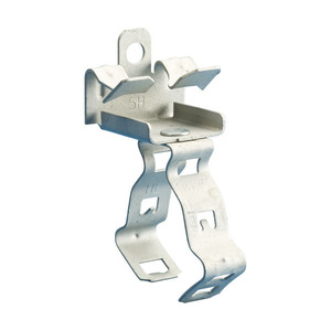 "Erico Caddy 812M58 Flange Mount Conduit Clip, Type: Snap, 1/2 or 3/4"" Conduit, Steel"