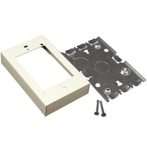 Wiremold V5748S Shallow Switch/Receptacle Box, 1-Gang, 500/700 Series, Ivory