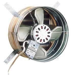 Broan 35316 Attic Ventilator,Broan,Powered,1600 CFM,GALV STL HSG,STL BLD,Gable,14 IN BLD