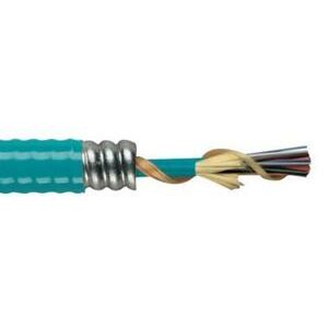 General Cable AP0481PNU-ILPAS Tight Buffer Distribution Interlock Armored Plenum Cable, 48 Fibers, 4 Sub-Units